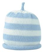Merry Berries Sky Blue & White Striped Hat