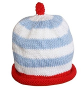 Merry Berries Red, White & Sky Blue Striped Hat