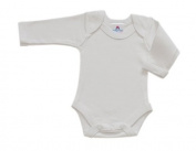BabywearUK Body Vest Env Neck Long Sleeved - White - 18-24 months - British Made