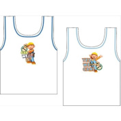Busy 2 Pack Bob the Builder Cotton Vests
