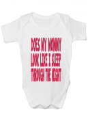 Does Mommy Look Like I Sleep Funny Babygrow Babies Gift Boy/Girl Vest Babies