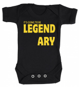 Baby Buddha - This Is Going To Be Legendary Baby Babygrow 100% Cotton Sizes 0M Upto 12M in 5 Colours