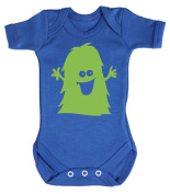 Baby Buddha - Green Monster Baby Babygrow 100% Cotton Sizes 0M Upto 12M in 5 Colours