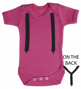 Baby Buddha - Suspenders Baby Babygrow 100% Cotton Sizes 0M Upto 12M in 5 Colours