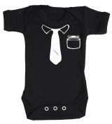 Baby Buddha - Work Tie Baby Babygrow 100% Cotton Sizes 0M Upto 12M in 5 Colours