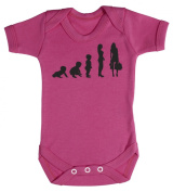 Baby Buddha - Evolution To A Shopper Baby Babygrow 100% Cotton Sizes 0M Upto 12M in 5 Colours