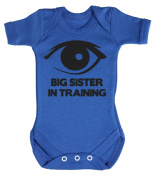 Baby Buddha - Big Sister In Training Baby Babygrow 100% Cotton Sizes 0M Upto 12M in 5 Colours