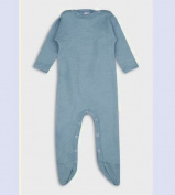 Organic Merino Wool 70% and Mulberry Silk 30% Sleepsuit Babygrow Romper