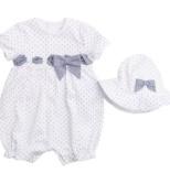 Emile et Rose Dot & Bow Romper, Rompers, Babies, 0-1 months