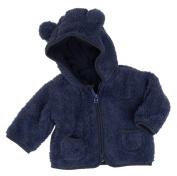 Playshoes Unisex Baby Fleece Hoody with Funny Animal Ears Jacket Blue 18 Months