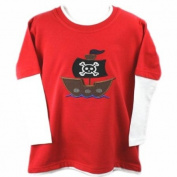 TinyGemz NEW Hancrafted Boy's / Toddler's / Baby's Pirate Applique Long Sleeve Top Gift! - 3-6 Months