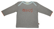 Loud + Proud Unisex Baby Striped Long Sleeve Shirt Organic Cotton for 0 - 6 Months Grey