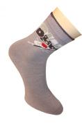 """Weri Spezials Children Socks, """"Beach Surf """", Grey"""