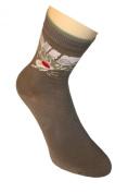 """Weri Spezials Children Socks, """"Beach Surf """", Olive"""
