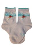"""Weri Spezials Children Socks, """"Beach Surf """", bright Blue"""