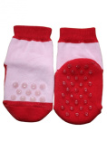 Weri Spezials ABS Baby Socks. Double sided ABS, Red