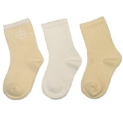 Ecoland Baby Infant and Toddler Organic Cotton Combo Crew Socks - 3 Pairs Value