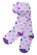 Weri Spezials Baby and Children Tights, Lilac/Multicoloured Peas