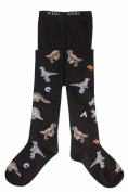 "Weri Spezials Baby and Children Tights, dark Blue, ""Dinosaurs"""