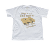 """Hip Hop Was Born in the Bronx"" Boy's White Toddler T-Shirt"