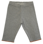 Loud + Proud Unisex Baby Striped Trousers Organic Cotton for 0 - 6 Months Grey