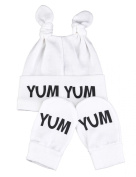 Yum Yum Knot Hat & Scratch Mits Baby Set