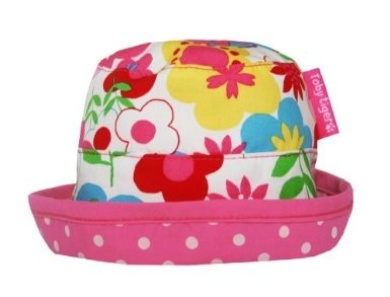 Toby Tiger Baby Girl's Reversible Tie Sunhat Multiflower