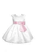 Cinda Satin Christening Party Dress+Headband
