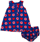 Toby Tiger Heart Flower Baby Girl's Dress & Pants Set