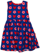 Toby Tiger Heart Flower Party Baby Girl's Dress