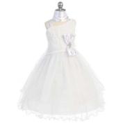 Chic Baby White 1 Shoulder Sequined Tulle Skirt Dress Girls 2T-12