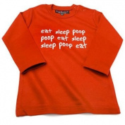 Eat Sleep Poop Baby Red T-shirt L/S,2-4 years