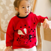 Red Ladybird Applique Children's Jumper