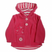 Chelsea Football Club Girls Microfleece Hooded Jacket with Butterfly Embroidery