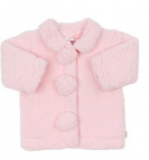 Max and Tilly Designer Baby Girl Cosy Coral Fleece Jacket Style Top size 6-12 months - Pale Pink