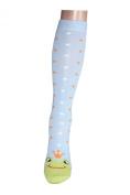 Weri Spezials Knee-length Socks for Children , Colour:Blue