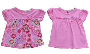 Baby Girl 2 Pack Smock Style T-Shirt