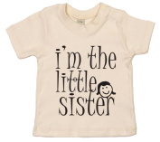 IiE, I'm the Little Sister, Baby Girl T-shirt, 18-24m, Natural