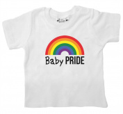 DFUK, Baby PRIDE LGBT Parenting, Baby Boy Girl T-shirt, 18-24m, White