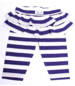 Lilly & Sid Blue Stripe Skirted Leggings, Trousers, Baby girl, 0-3 months