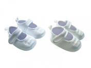 "MABINI® Baby Satin Christening / Special Occasion Shoes With ""Special Baby"" Embroidery Detail On Front"