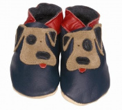 Daisy Roots Licking Dog Baby Shoes Soft Leather