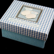 Gisela Graham Baby's First Shoes Storage Box Blue