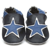 Soft Leather Baby Shoes Blue Star 24-36 months