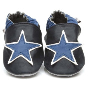 Soft Leather Baby Shoes Blue Star 3-4 years