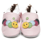 Soft Leather Baby Shoes Caterpillar Pink 3-4 years