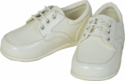 Baby Boys Cream Patent Lace Up Shoes