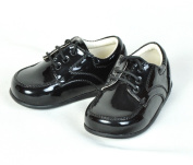 Baby Boys Black Patent Lace Up Shoes