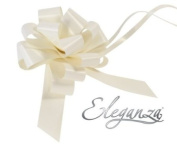 Premium Poly Ribbon Pullbows - Ivory 30mm x 30pcs