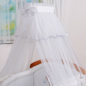 LUXURIOUS CANOPY DRAPE ONLY to fit Baby Cot or Cot Bed BIG! 480cm-WHITE